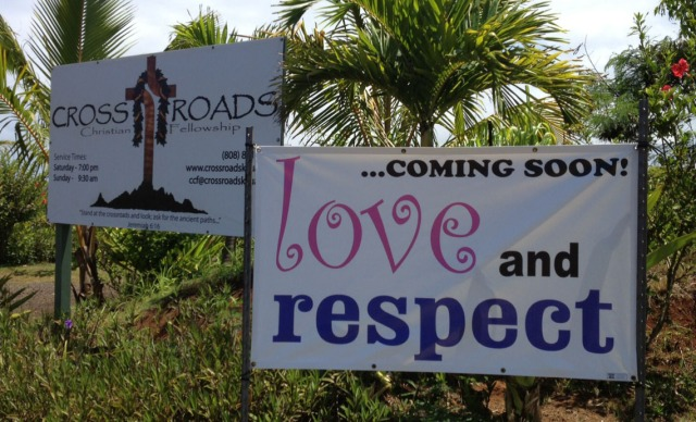LOVE and RESPECT Kauai - Kapaa class TONIGHT, July 8, 2013, 7pm